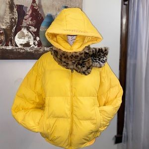 Lucky brand yellow jacket size M new  w/tags